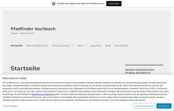 Vorschau von www.scout.at, Pfadfindergruppe Aschbach