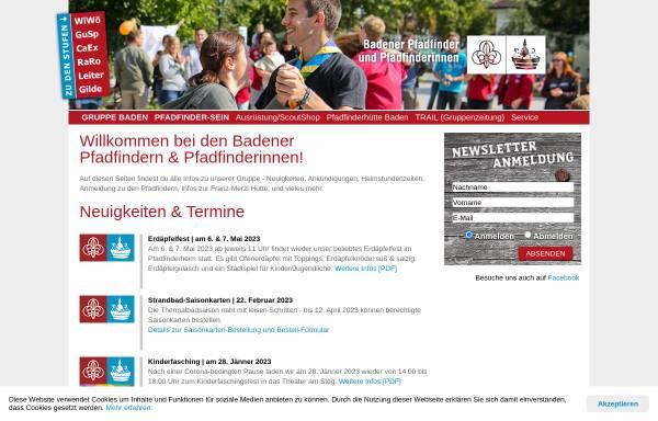 Vorschau von www.ontrail.at, Pfadfindergruppe Baden