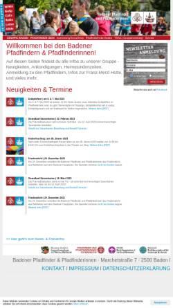 Vorschau der mobilen Webseite www.ontrail.at, Pfadfindergruppe Baden