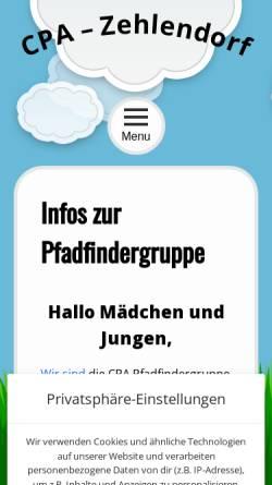 Vorschau der mobilen Webseite www.cpa-zehlendorf.de, CPA Berlin-Zehlendorf