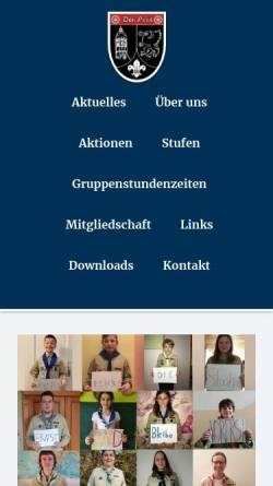 Vorschau der mobilen Webseite www.dongreif.de, DPSG Stamm Don Greif, Mainz