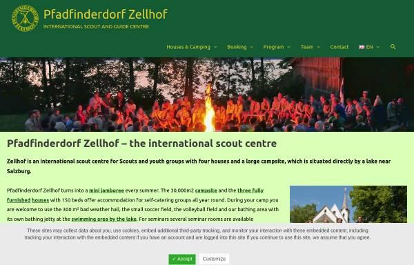 Vorschau von www.zellhof.at, Pfadfinderdorf Zellhof, Mattsee