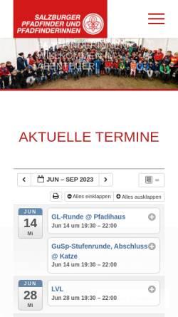 Vorschau der mobilen Webseite www.salzburger-pfadfinder.at, Landesverband der Salzburger Pfadfinder und Pfadfinderinnen