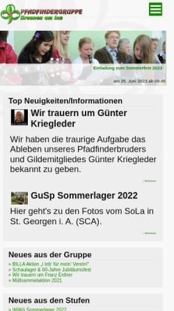Vorschau der mobilen Webseite www.pfadfinder-braunau.at, Pfadfindergruppe Braunau