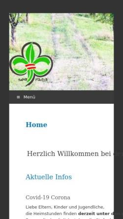 Vorschau der mobilen Webseite www.scout.at, Pfadfindergruppe Freistadt