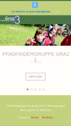 Vorschau der mobilen Webseite www.graz3.at, Pfadfindergruppe Graz 3 - St. Georg