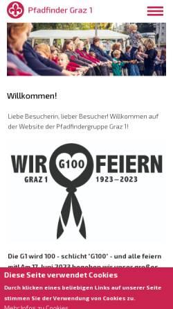 Vorschau der mobilen Webseite www.scout.at, Pfadfindergruppe Graz1