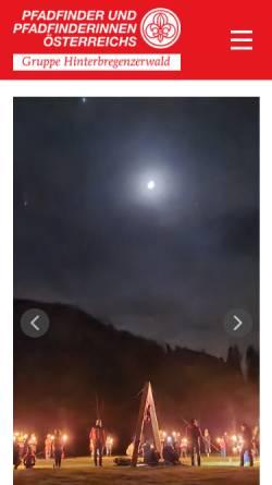 Vorschau der mobilen Webseite www.pfadfinden.at, Pfadfindergruppe Hinterbregenzerwald