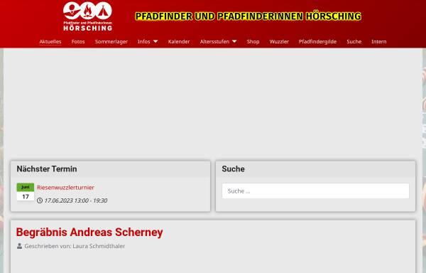 Vorschau von hoersching.scout.at, Pfadfindergruppe Hörsching