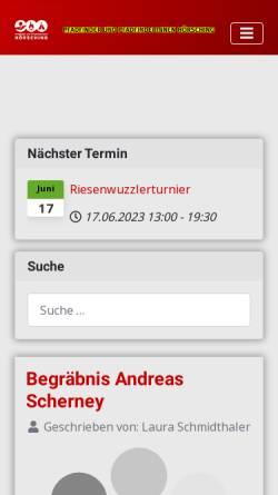 Vorschau der mobilen Webseite hoersching.scout.at, Pfadfindergruppe Hörsching