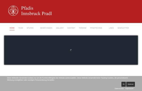 Vorschau von www.pfadfinder-innsbruck-pradl.at, Pfadfindergruppe Innsbruck Pradl