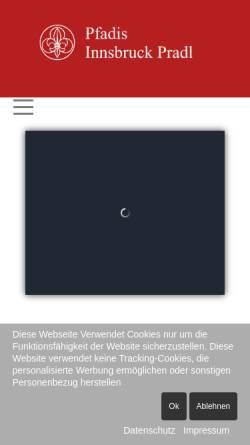 Vorschau der mobilen Webseite www.pfadfinder-innsbruck-pradl.at, Pfadfindergruppe Innsbruck Pradl