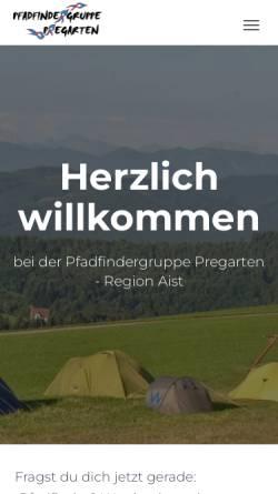Vorschau der mobilen Webseite scout.daka.at, Pfadfindergruppe Pregarten