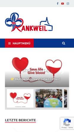 Vorschau der mobilen Webseite pfadi-rankweil.at, Pfadfindergruppe Rankweil