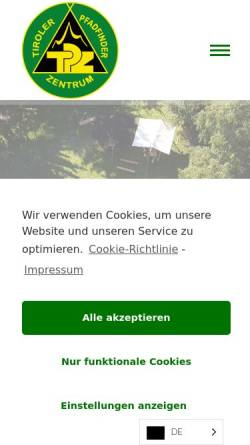 Vorschau der mobilen Webseite www.tpz-igls.at, Tiroler Pfadfinderzentrum Igls