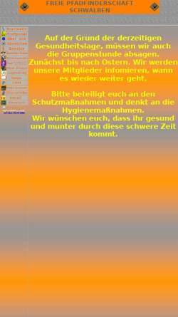 Vorschau der mobilen Webseite www.fps.wtal.de, Freie Pfadfinderschaft Schwalben