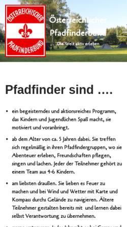 Vorschau der mobilen Webseite www.pfadfinderbund.at, Österreichischer Pfadfinderbund