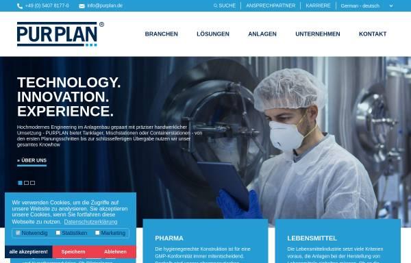 Vorschau von www.purplan.com, Purplan GmbH Tanklager - Reaktoren - Wärmetechnik