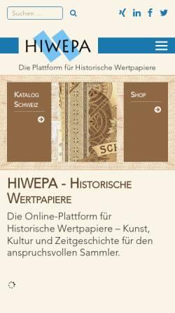 Vorschau der mobilen Webseite www.hiwepa.ch, HIWEPA, Thierry Stäuble