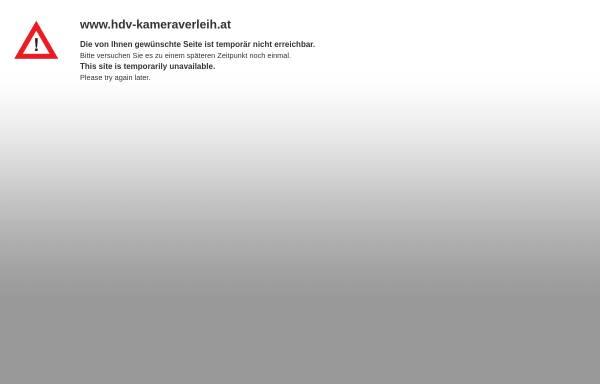 Vorschau von www.hdv-kameraverleih.at, Alisher Design GmbH