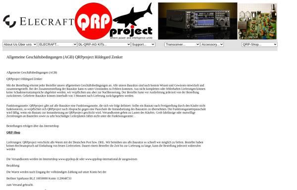 Vorschau von www.qrpproject.de, QRPproject Hildegard Zenker