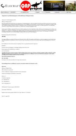 Vorschau der mobilen Webseite www.qrpproject.de, QRPproject Hildegard Zenker