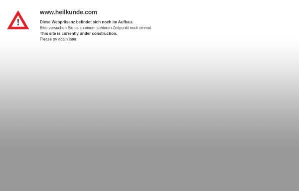 Vorschau von www.heilkunde.com, Heilkunde