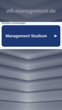 Vorschau der mobilen Webseite www.wfi-management.de, Katholischen Universität Eichstätt-Ingolstadt