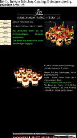 Vorschau der mobilen Webseite www.bankettservice.com, Engelhardt Bankettservice