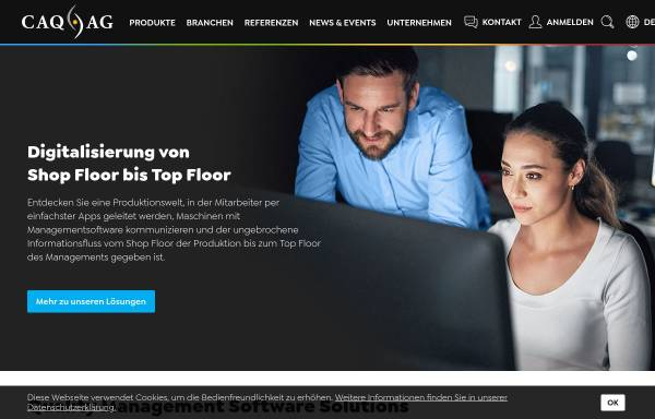 Vorschau von www.caq.de, CAQ AG Factory Systems