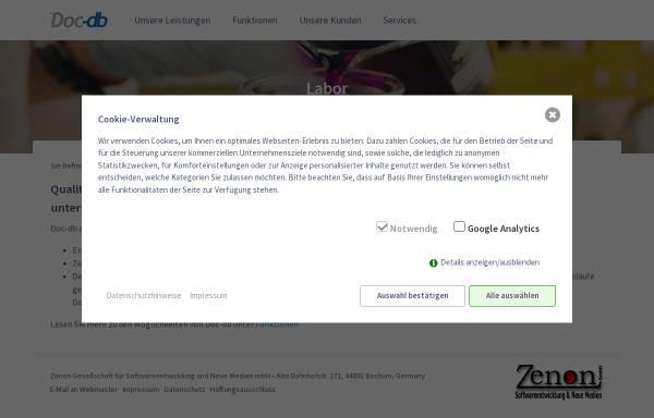 Vorschau von www.doc-db.de, Doc-db Qualitätsmanagementsystem