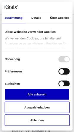 Vorschau der mobilen Webseite www.igrafx.com, IGrafx GmbH