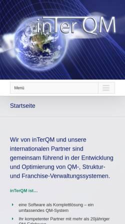 Vorschau der mobilen Webseite inter-qm.de, InTerQM FMB Deutschland GmbH