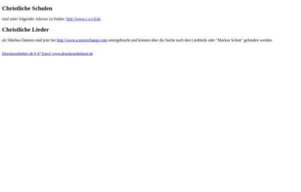 Vorschau von www-lehre.informatik.uni-osnabrueck.de, Christliche Lieder