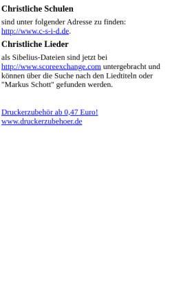 Vorschau der mobilen Webseite www-lehre.informatik.uni-osnabrueck.de, Christliche Lieder