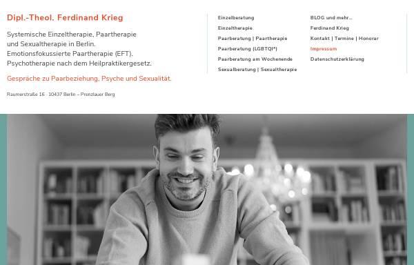 Vorschau von www.einzelundpaartherapie.de, Paartherapie Dipl.-Theologe Ferdinand Krieg, Berlin