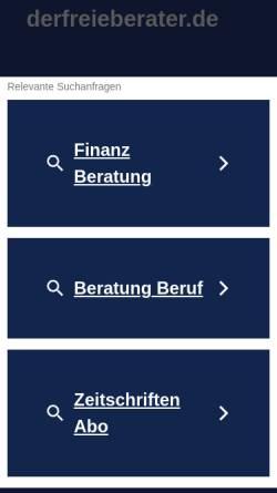 Vorschau der mobilen Webseite www.derfreieberater.de, Der Freie Berater, Verlags GmbH und Co KG
