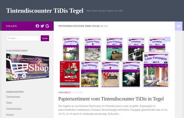 Vorschau von tintendiscounter.com, Tintendiscounter Tegel, Inh. Detlef Möbis