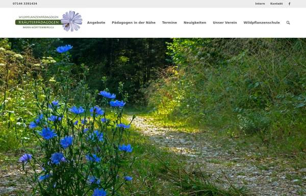 Vorschau von www.xn--ig-wildkruter-jfb.de, Interessengemeinschaft der Kräuterpädagoginnen Nord-Württemberg/Nord-Baden