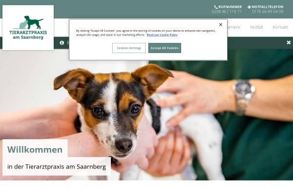 Vorschau von www.tierarztpraxis-am-saarnberg.de, Dr. Wolfang Drinneberg - Fachtierarzt für Kleintiere, Teilgebietsbezeichnung Chirurgie beim Kleintier
