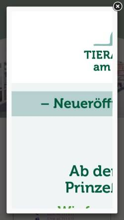 Vorschau der mobilen Webseite www.tierarztpraxis-am-saarnberg.de, Dr. Wolfang Drinneberg - Fachtierarzt für Kleintiere, Teilgebietsbezeichnung Chirurgie beim Kleintier