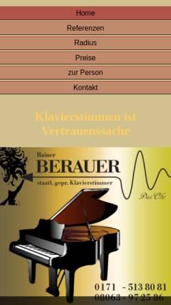 Vorschau der mobilen Webseite www.derklavierstimmer.com, Berauer, Rainer