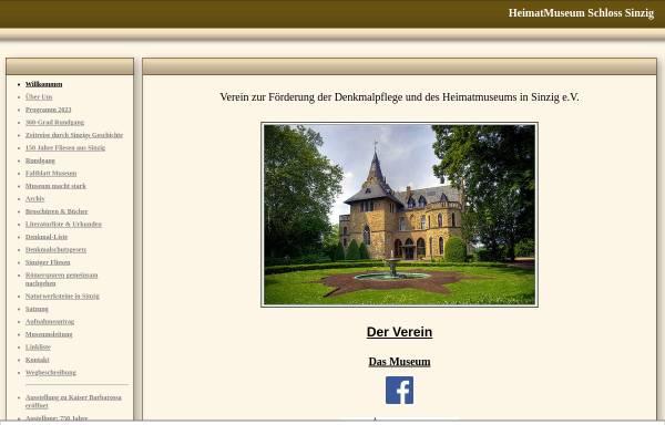 Vorschau von www.museum-sinzig.de, Verein zur Förderung der Denkmalpflege und des Heimatmuseums in Sinzig e.V.