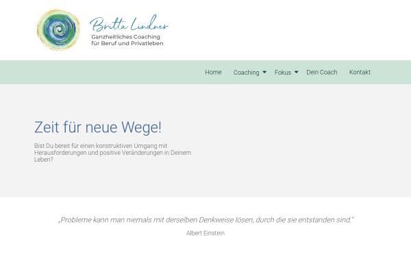 Vorschau von www.brittalindner.de, Ganzheitliches Coaching - Britta Lindner