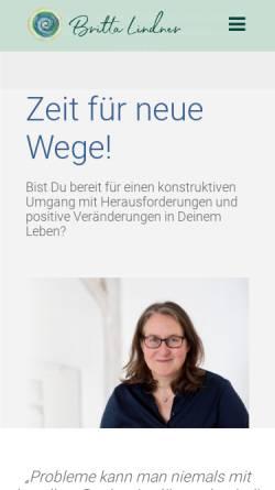 Vorschau der mobilen Webseite www.brittalindner.de, Ganzheitliches Coaching - Britta Lindner