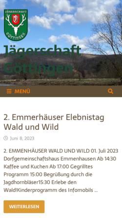 Vorschau der mobilen Webseite jaegerschaft-goettingen.de, Jägerschaft Göttingen
