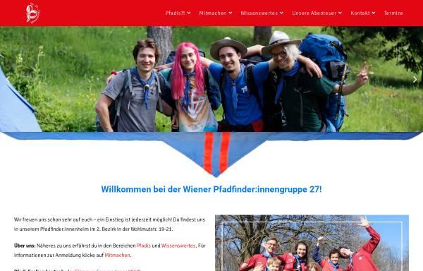 Vorschau von www.gruppe27.at, Pfadfindergruppe Wien 27