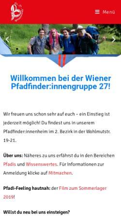 Vorschau der mobilen Webseite www.gruppe27.at, Pfadfindergruppe Wien 27