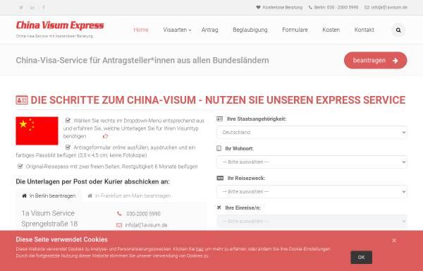 Vorschau von www.china-visum-express.com, China Visum Express