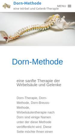 Vorschau der mobilen Webseite www.dorn-methode-therapie.de, Dorn-Methode